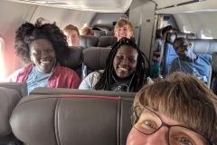 Sisilia and Joy on the plane