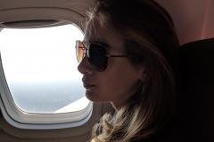 Indigo by plane window